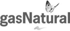 logo gas Natural blanco y negro