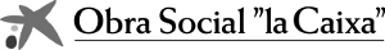logo Obra Social la Caixa blanco y negro
